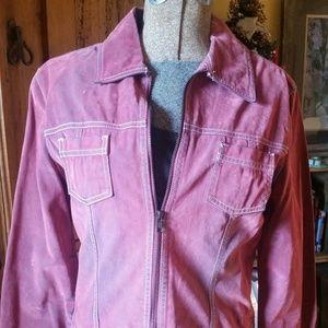 SO Brand Distressed Velvety Jean Jacket  M